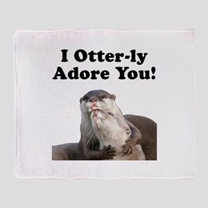 Otterly Adore Throw Blanket