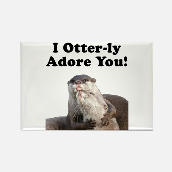 Otterly Adore Rectangle Magnet (10 pack)