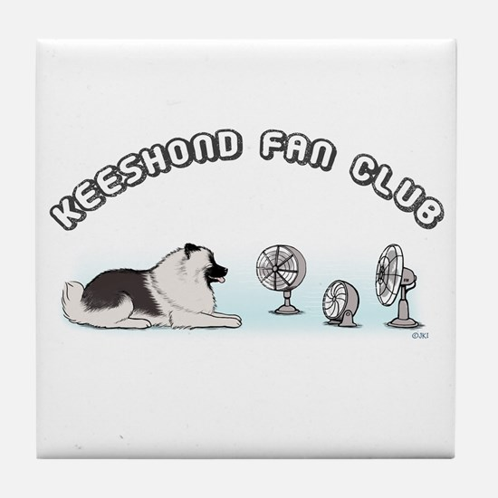 Keeshond Fan Club Tile Coaster