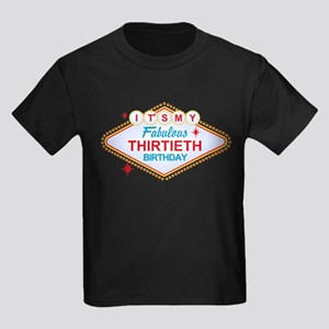 Las Vegas 30th Birthday Kids Dark T-Shirt