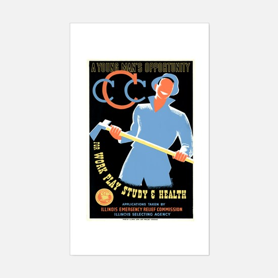 Civilian Conservation Corps Sticker (Rectangle)