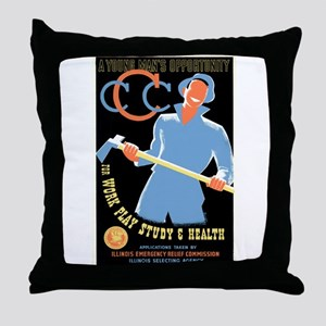 Civilian Conservation Corps Throw Pillow