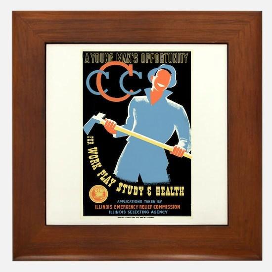 Civilian Conservation Corps Framed Tile