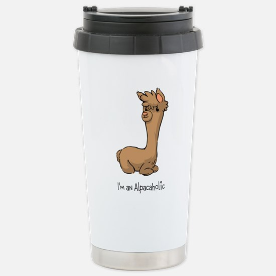 Sitting Brown Alpaca Mugs