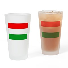 Hungary Flag Drinking Glass
