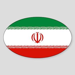 Iran Flag Sticker (Oval)