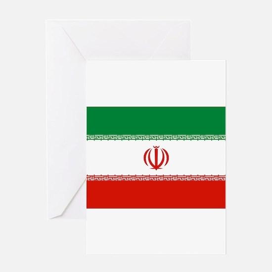 Iran Flag Greeting Card