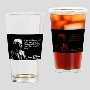 Mark Twain, Cincinnati, Drinking Glass