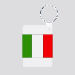 Italy Flag Aluminum Photo Keychain