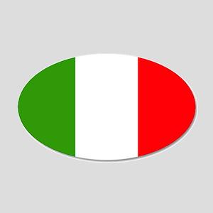 Italy Flag 22x14 Oval Wall Peel