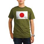 Japan Flag Organic Men's T-Shirt (dark)