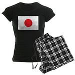 Japan Flag Women's Dark Pajamas