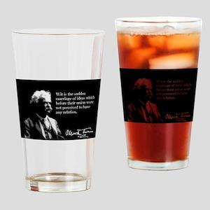 Mark Twain, Wit, Drinking Glass