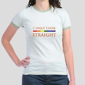 fb390f287aae2b I Only Look Straight Jr. Ringer T-Shirt