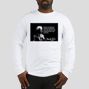 Mark Twain, Tax Collector Joke, Long Sleeve T-Shir