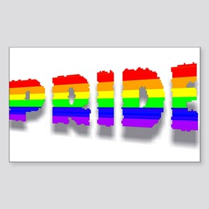RAINBOW COLORED PRIDE TEXT 4 Rectangle Sticker