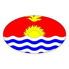 Kiribati Flag Sticker (Oval)