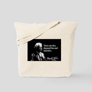 Mark Twain, Lies and Statistics, Tote Bag