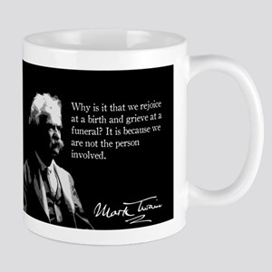 Mark Twain, Birth and Funeral, Mug