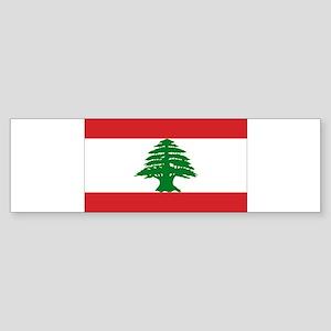 Lebanon Flag Sticker (Bumper)