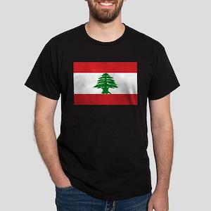 Lebanon Flag Dark T-Shirt