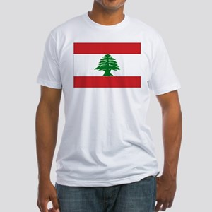 Lebanon Flag Fitted T-Shirt