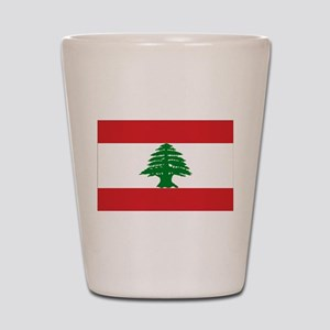 Lebanon Flag Shot Glass