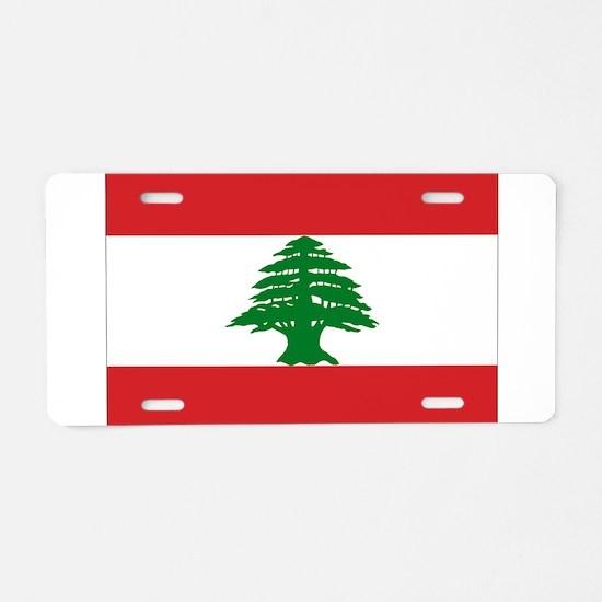 Lebanon Flag Aluminum License Plate