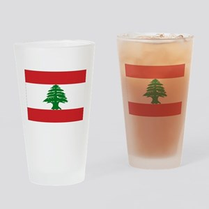 Lebanon Flag Drinking Glass