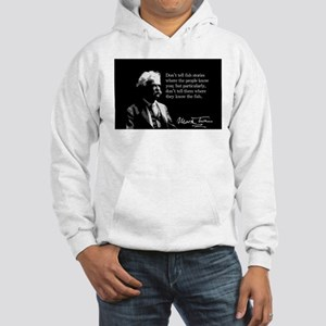 Mark Twain, Fish Stories, Hooded Sweatshirt