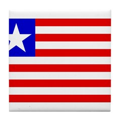 Liberia Flag Tile Coaster