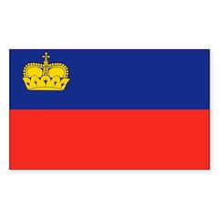 Liechtenstein Flag Sticker (Rectangle 10 pk)
