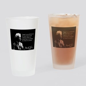 Mark Twain, Anger Is Like Acid, Drinking Glass