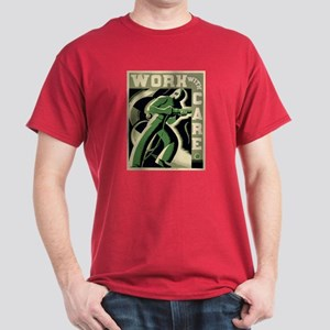 Work With Care WPA Poster Dark T-Shirt