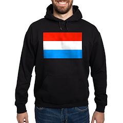 Luxembourg Flag Hoodie (dark)