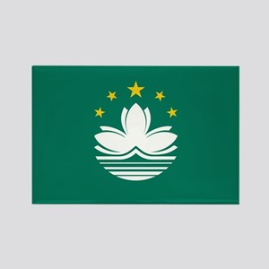 Macau Flag Rectangle Magnet