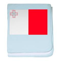 Malta Flag baby blanket