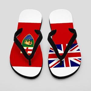 Manitoba Flag Flip Flops