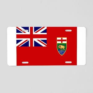 Manitoba Flag Aluminum License Plate