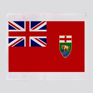 Manitoba Flag Throw Blanket