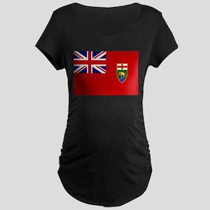 Manitoba Flag Maternity Dark T-Shirt