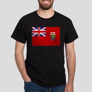 Manitoba Flag Dark T-Shirt