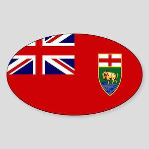 Manitoba Flag Sticker (Oval)