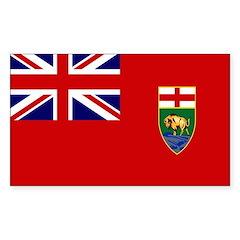 Manitoba Flag Sticker (Rectangle)