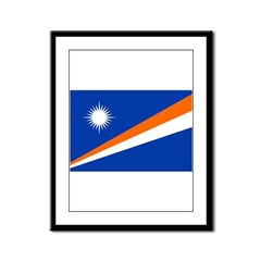 Marshall Islands Flag Framed Panel Print
