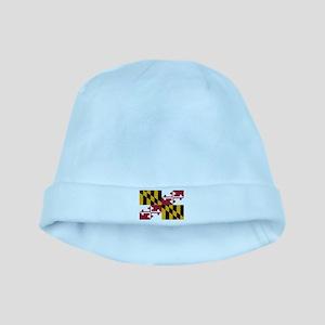 Maryland Flag baby hat