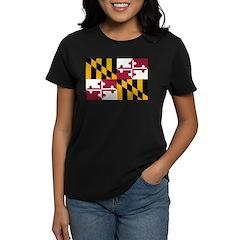 Maryland Flag Women's Dark T-Shirt