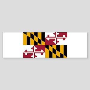 Maryland Flag Sticker (Bumper)