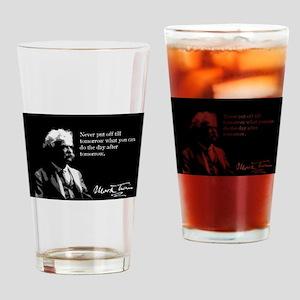Mark Twain, Procrastination, Drinking Glass