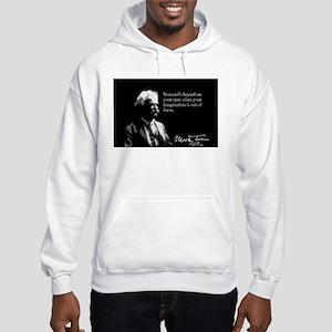 Mark Twain, Imagination, Hooded Sweatshirt
